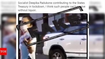 Fake: This is not Deepika Padukone buying liquor